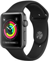 Часы Apple Watch Series 3 38mm Space Gray Aluminum Case with Black Sport Band