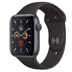 Часы Apple Watch Series 5 GPS 40mm Space Gray Aluminum Case with Black Sport Band