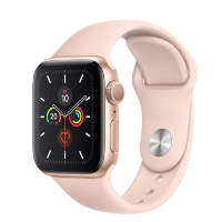 Часы Apple Watch Series 5 GPS 40mm Gold Aluminum Case with Pink Sport Band
