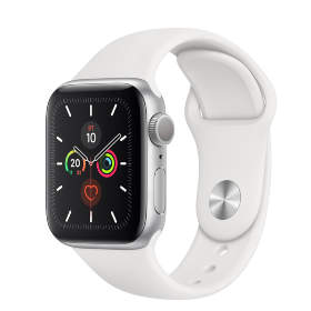 Часы Apple Watch Series 5 GPS 40mm Silver Aluminum Case with White Sport Band