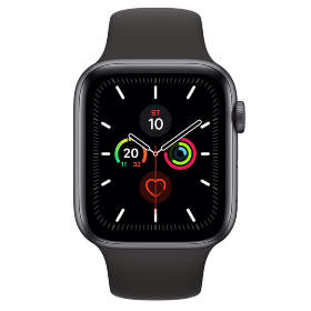 Часы Apple Watch Series 5 GPS 44mm Space Gray Aluminum Case with Black Sport Band