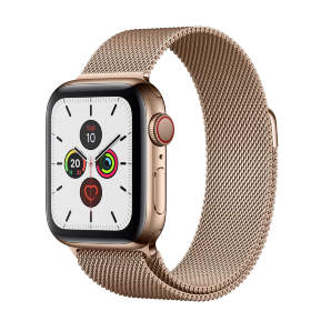 Часы Apple Watch Series 5 GPS + Cellular 40mm Stainless Steel Case with Milanese Loop Gold