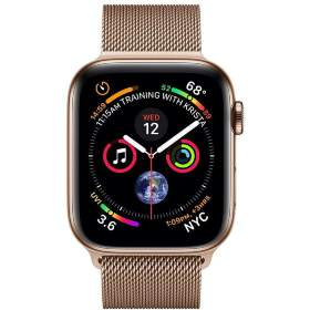 Часы Apple Watch Series 5 GPS + Cellular 44mm Stainless Steel Case with Milanese Loop Gold