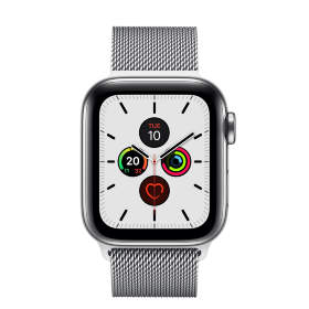 Часы Apple Watch Series 5 GPS + Cellular 44mm Stainless Steel Case with Milanese Loop Silver
