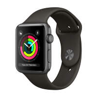 Часы Apple Watch Series 3 42mm Space Gray Aluminum Case with Gray Sport Band