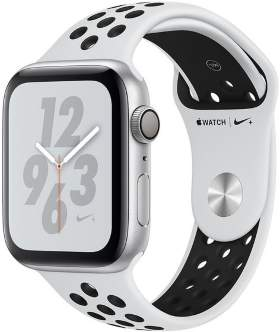 Часы Apple Watch Series 4 GPS 44mm Silver Aluminum Case with Pure Platinum/Black Nike Sport Band
