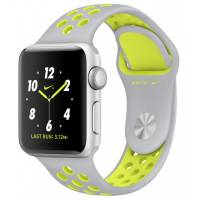 Apple Watch Series 2 Nike+ 38mm Silver Aluminum Case with Flat Silver/Volt Nike Sport Band
