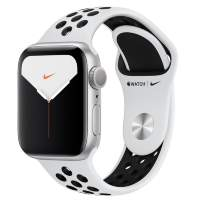 Часы Apple Watch Series 5 GPS 40mm Silver Aluminum Case with Pure Platinum/Black Nike Sport Band