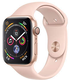 Часы Apple Watch Series 4 GPS 44mm Gold Aluminum Case with Pink Sport Band