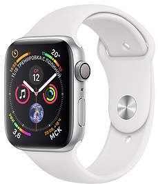 Часы Apple Watch Series 4 GPS 40mm Silver Aluminum Case with White Sport Band