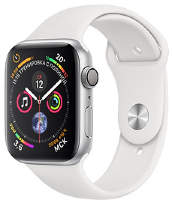 Часы Apple Watch Series 4 GPS 44mm Silver Aluminum Case with White Sport Band