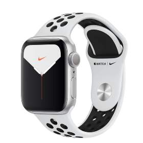 Часы Apple Watch Series 5 GPS 44mm Silver Aluminum Case with Pure Platinum/Black Nike Sport Band